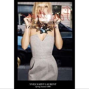 YSL Strapless Grey Dress